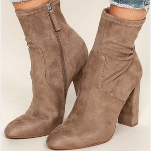 Steve Madden Taupe Edit Booties